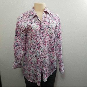 Banana Republic Womens Dillon Blouse Pink Blue M
